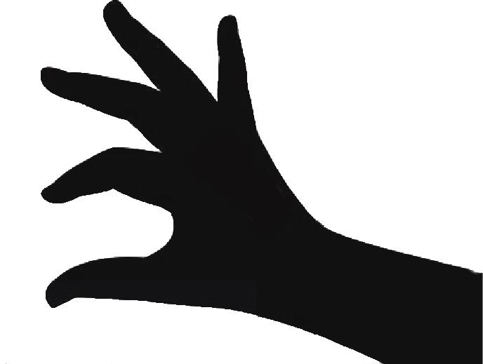 Silhouette Thumb Pinch Hand.