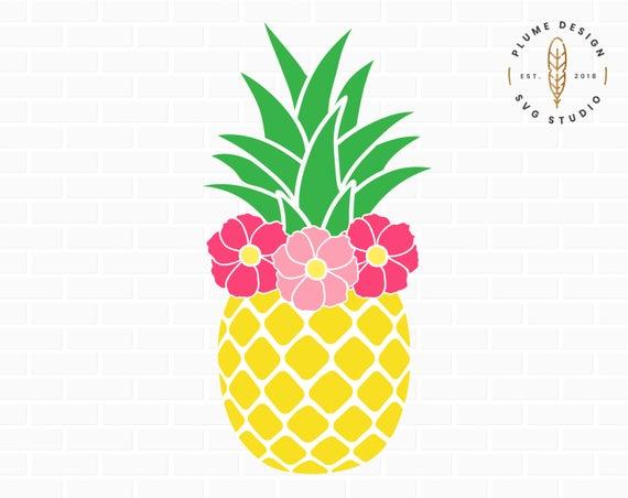 Pineapple SVG, Pineapple PNG, Pineapple clipart, Pineapple clip art, Summer  SVG, Beach Svg, Tropical Svg, Pineapple print, Flower Svg.