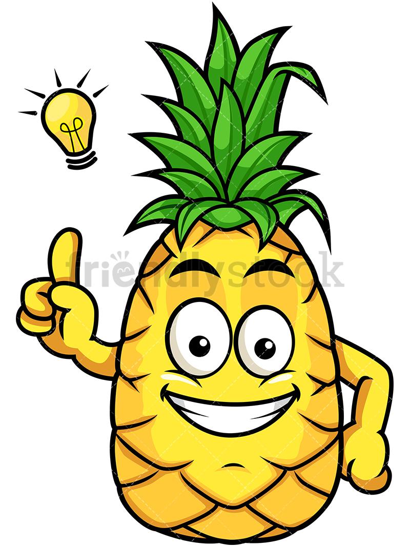 Pineapple Having Great Idea.