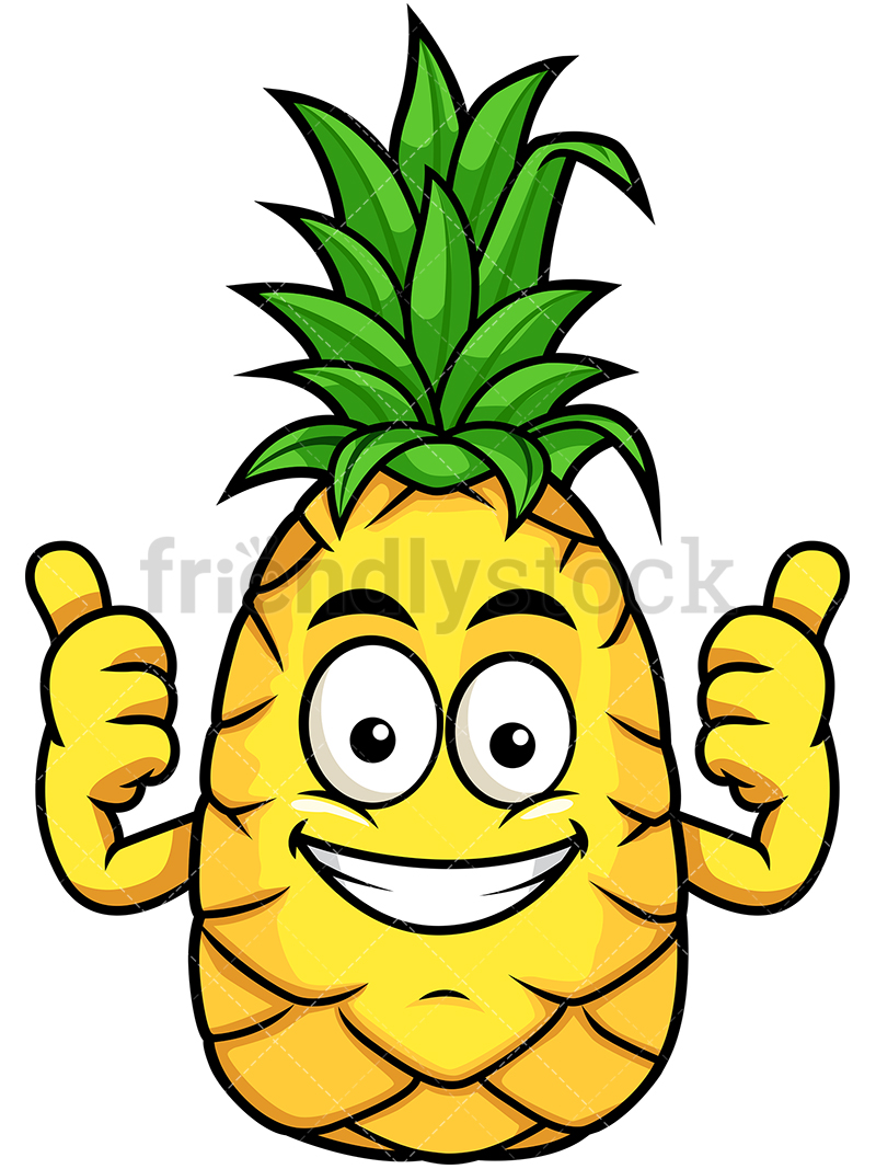 Pineapple Thumbs Up Both Hands.