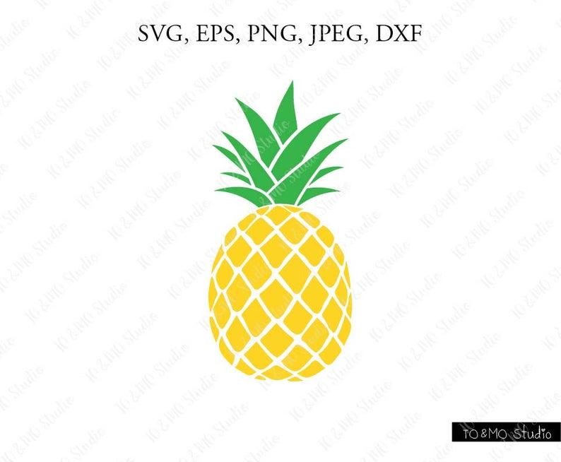 Pineapple SVG, Pineapple Clipart, Pineapple print SVG, SVG Files, Cricut,  Silhouette Cut Files.