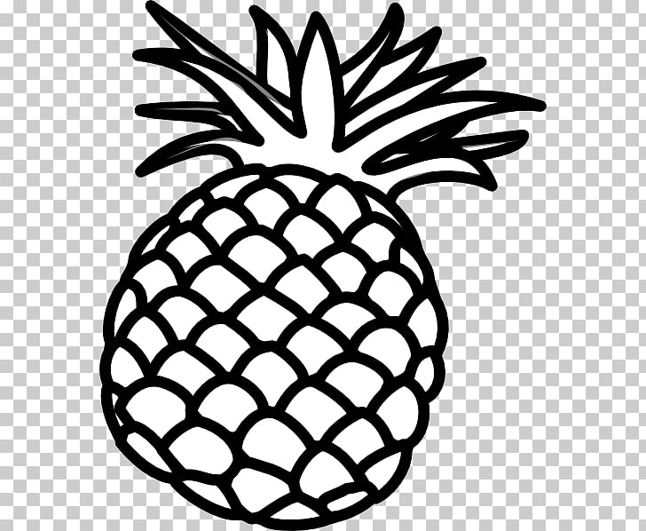 Pineapple Black and white Luau , watercolor pineapple PNG.