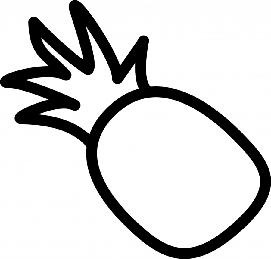 Pineapple Cartoon clipart.