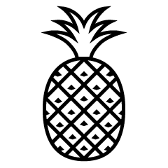 Free Black and White Pineapple Icon Image|Illustoon.