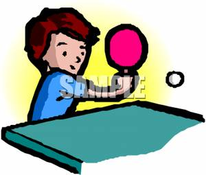 Doubles Ping Pong Clipart.