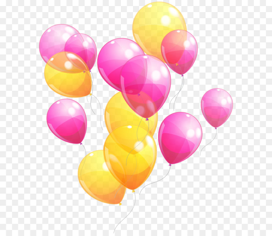 Pink Balloons png download.