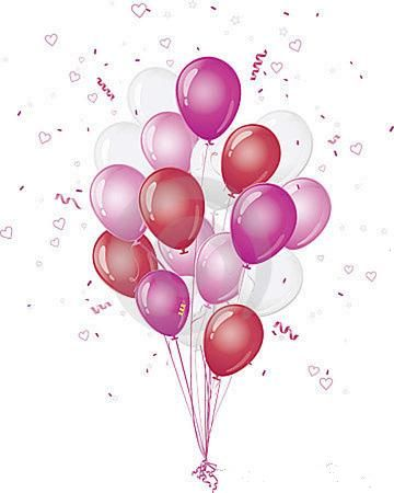 Pink balloons clipart 1 » Clipart Station.
