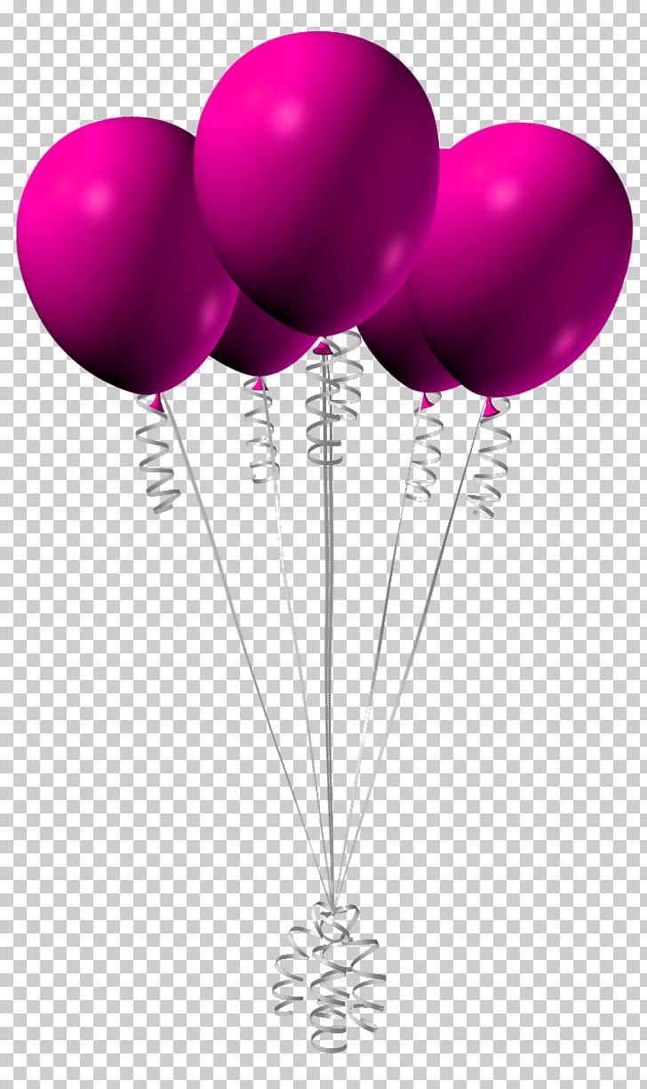 Pink Balloon , Pink Balloons , five purple balloons.