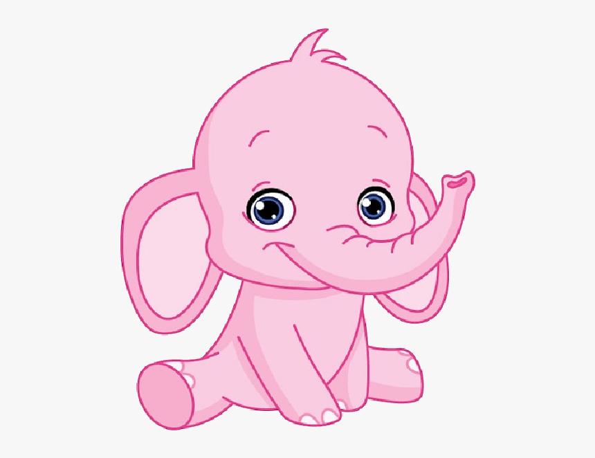 Clip Art Pink Elephant Clipart.