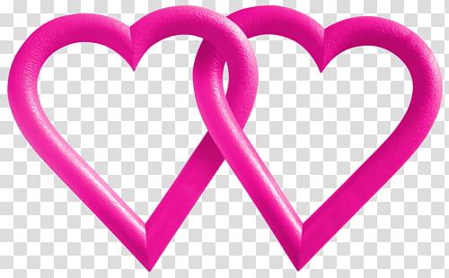 RNDOM, two pink hearts illustration transparent background.