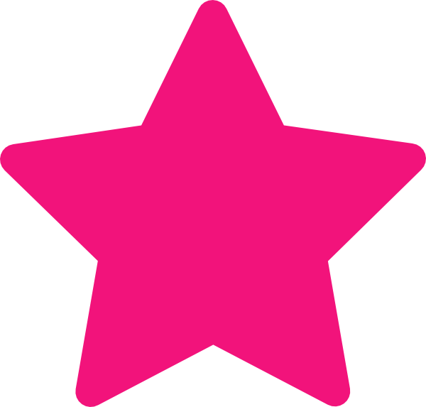 Pink star clipart 2 » Clipart Station.