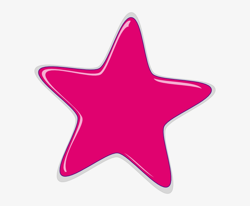 Pink Star Png.