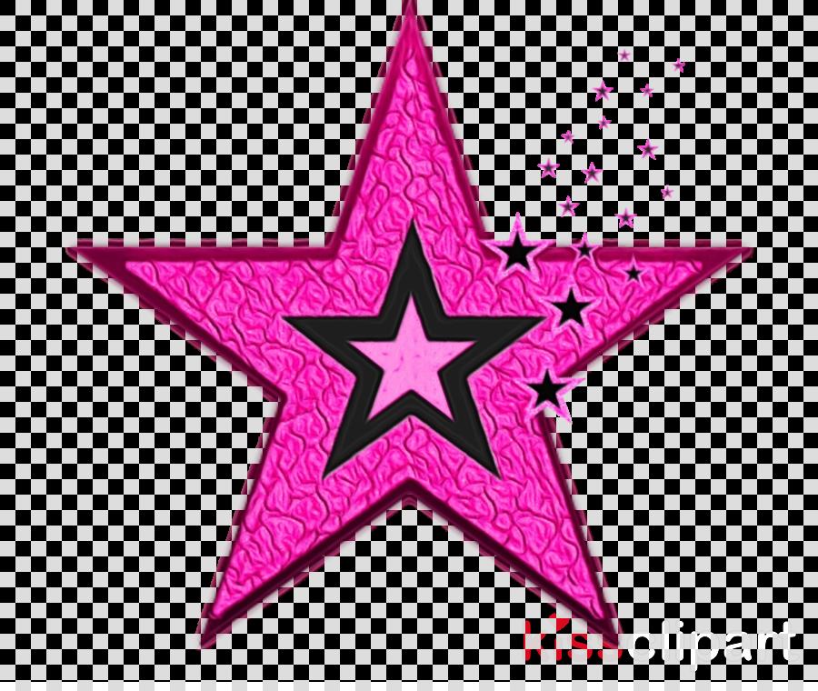 pink star magenta symbol clipart.