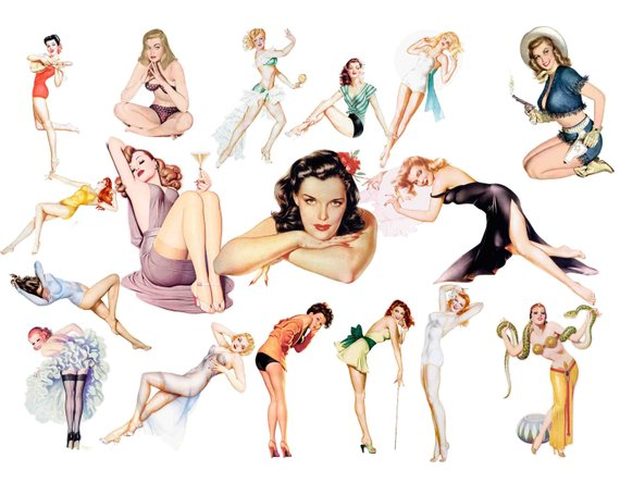 Pinup clipart 3 » Clipart Station.