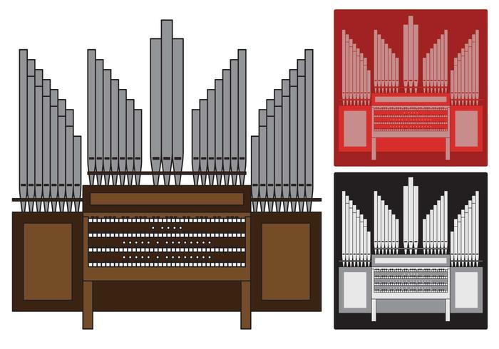 Pipe Organ illustration.