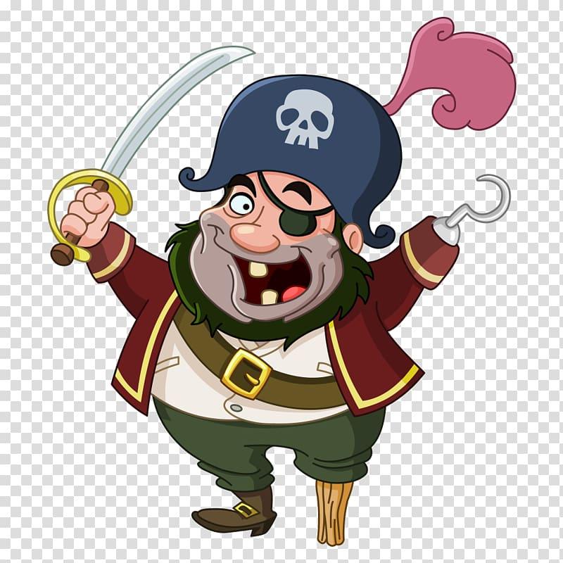 Pirate illustration, Piracy Cartoon , Pirate transparent.