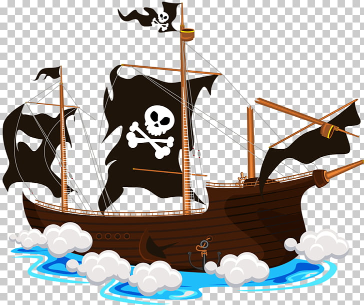 Ship Piracy , Crazy Pirate Ship PNG clipart.