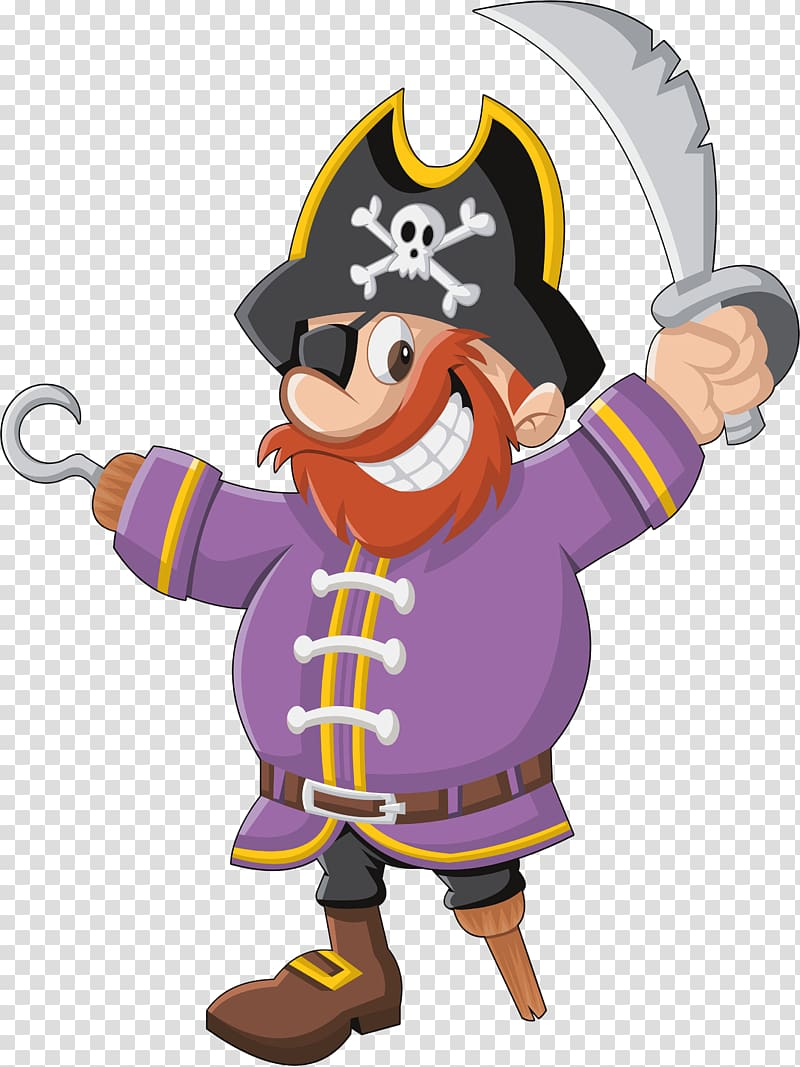 Piracy Drawing Illustration, Cartoon pirates transparent.