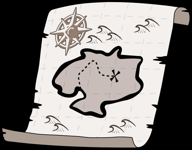 Free Clipart: Treasure map.