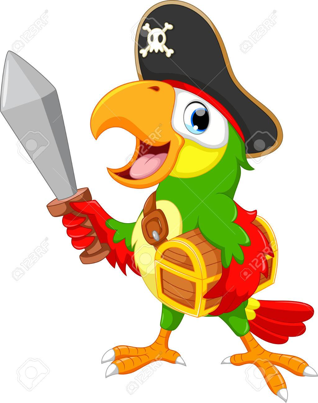 Pirate parrot clipart 4 » Clipart Station.