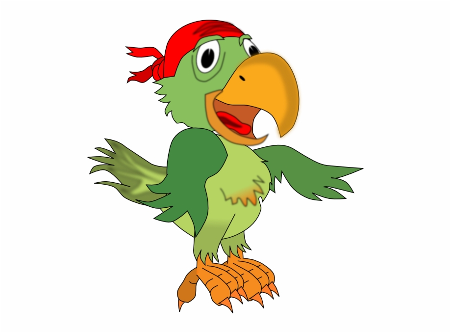 Pirate Parrot Hi Minutes Of Meeting Clip Art.