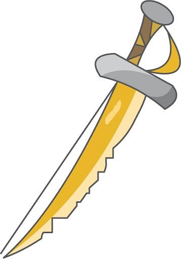 Pirate Sword Clipart Transparent.