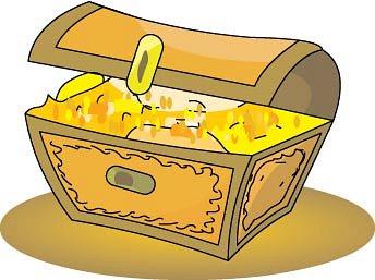 Treasure chest clipart pirate graphics image.