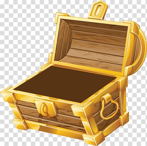 Pirate treasure chest transparent background PNG clipart.