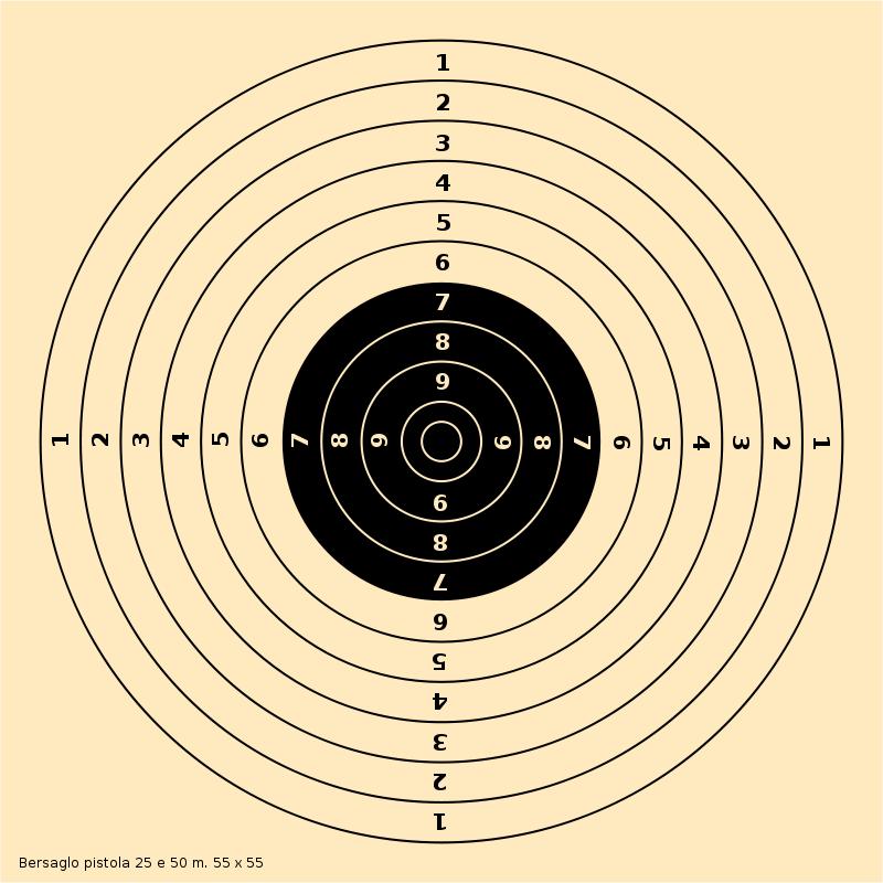 Free Clipart: Bersaglio pistola 25.