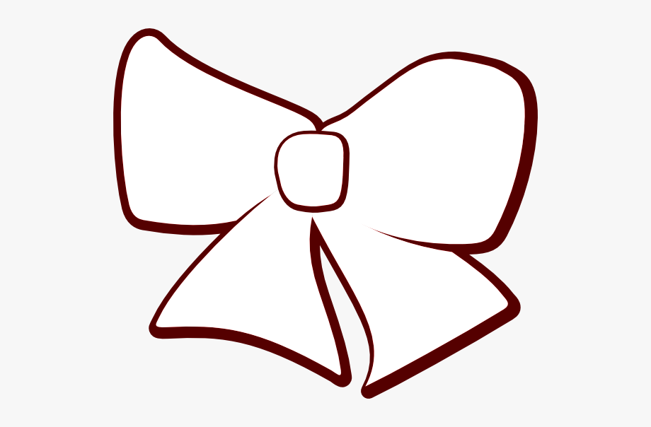 Cheer Bow Clipart Silhouette.