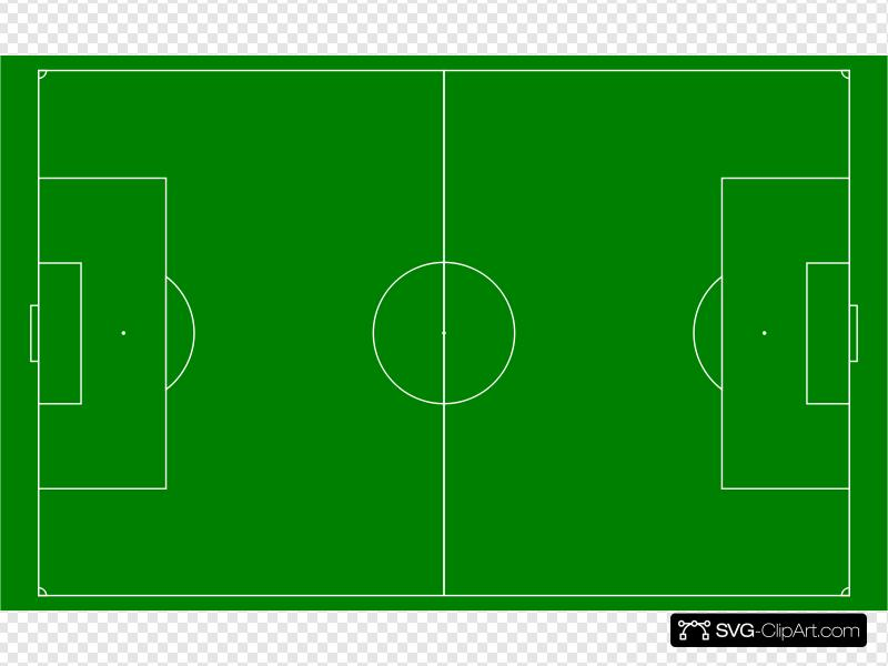 Soccer Field Football Pitch Clip art, Icon and SVG.