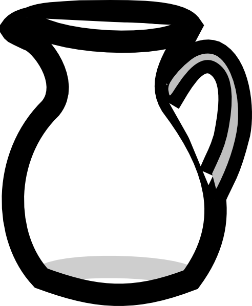 Empty Water Pitcher clip art.