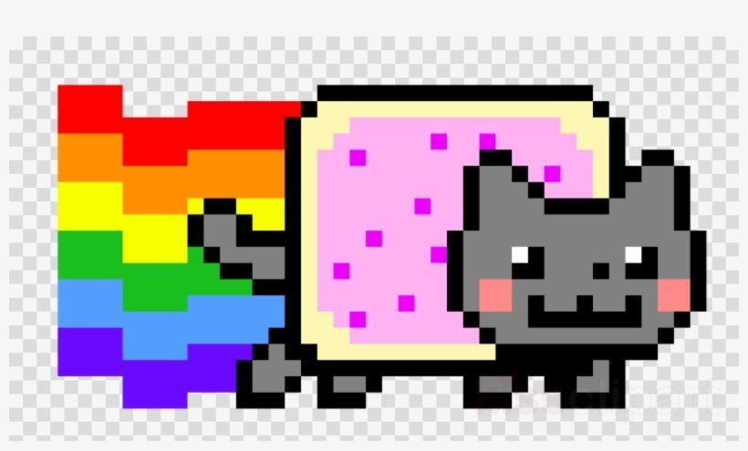 Nyan Cat Pixel Art Clipart Nyan Cat Pixel Art Cross.