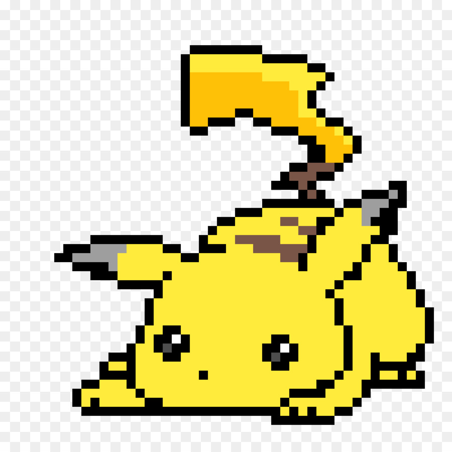 Pixel Art Pikachu clipart.