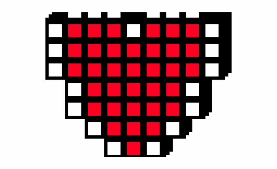 8 Bit Clipart Pixel Heart.