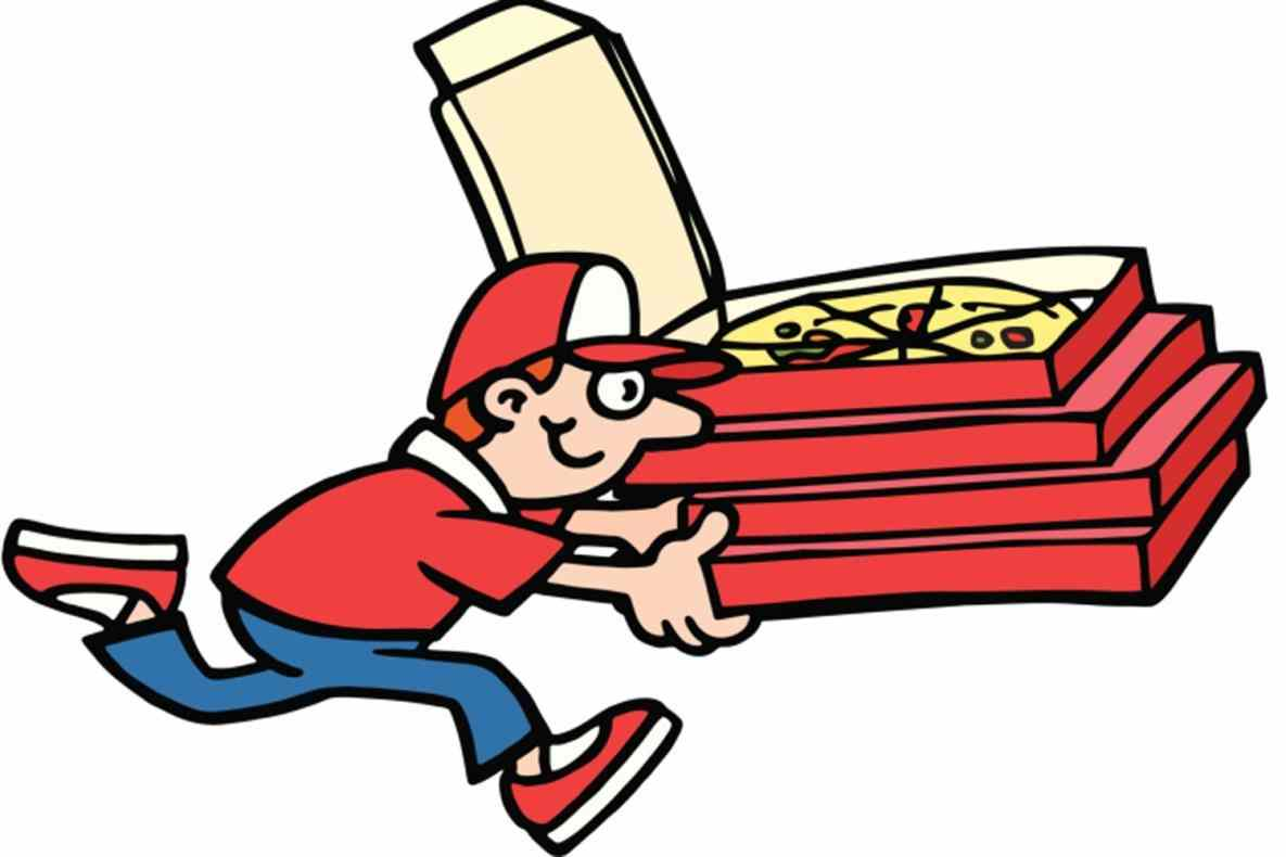 Pizza Delivery Guy Clipart.