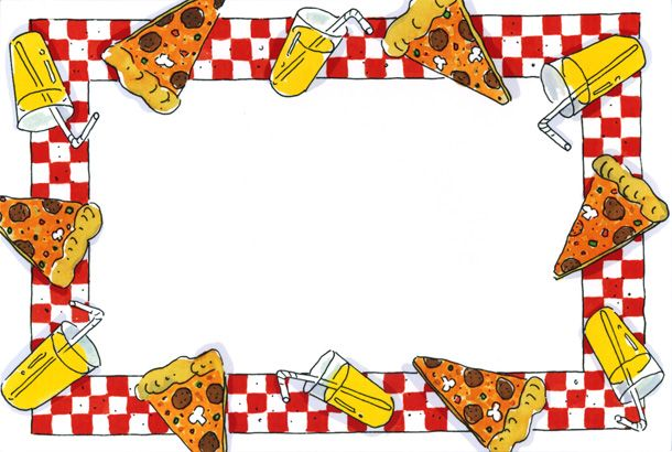 Coolest pizza clip art border Pizza Party Border Desserts.