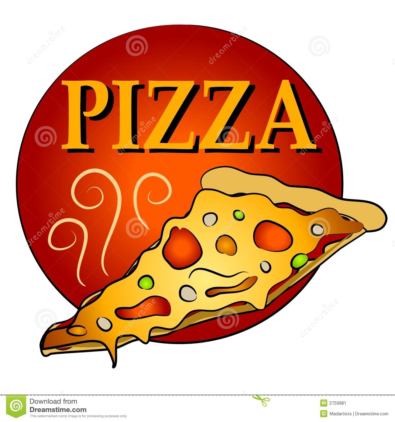 Hot Slice of Pizza Clipart stock illustration. Illustration of junk.