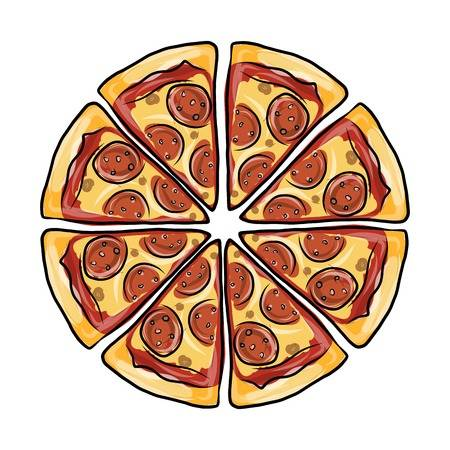 11,335 Pepperoni Pizza Stock Vector Illustration And Royalty Free.