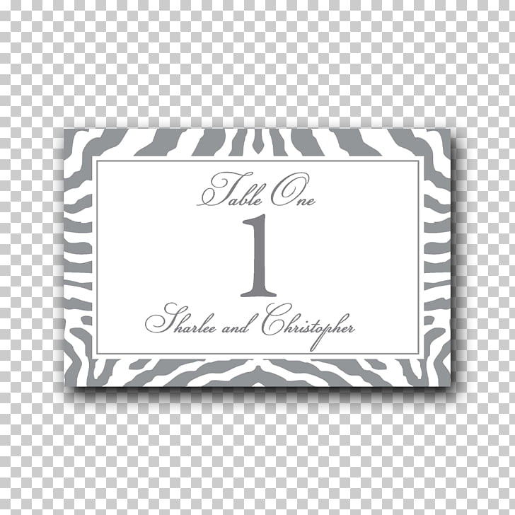 Zebra Place Cards Label Wedding Number, zebra PNG clipart.