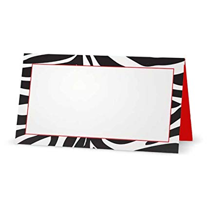 Amazon.com: Zebra Print and Red Place Cards.