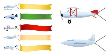 Vector banner towing aircraft material, Vector Files.