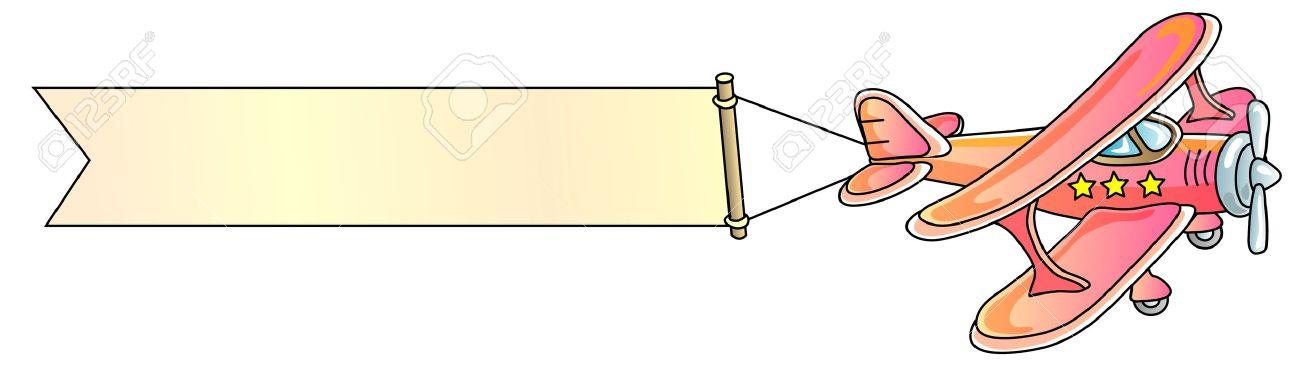 Plane With Banner Clipart & Plane With Banner Clip Art Images.