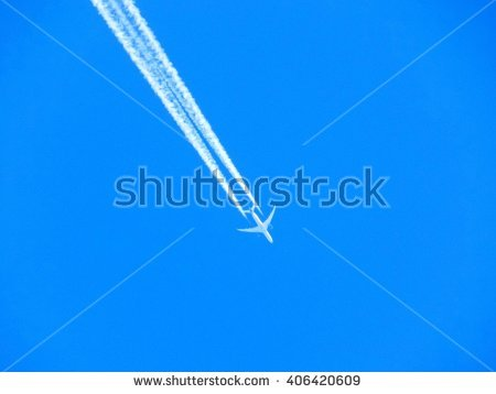Chemtrail Stock Images, Royalty.