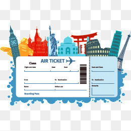 Plane ticket clipart 6 » Clipart Station.