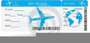 Free Clipart Plane Ticket.