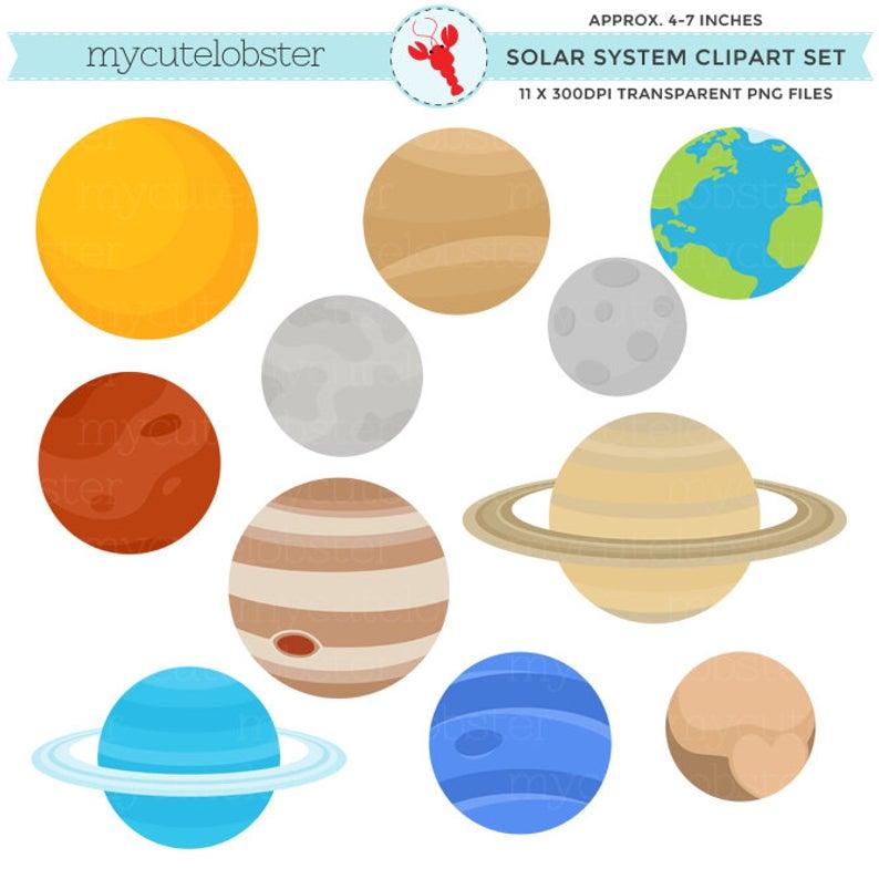Solar System Clipart Set.