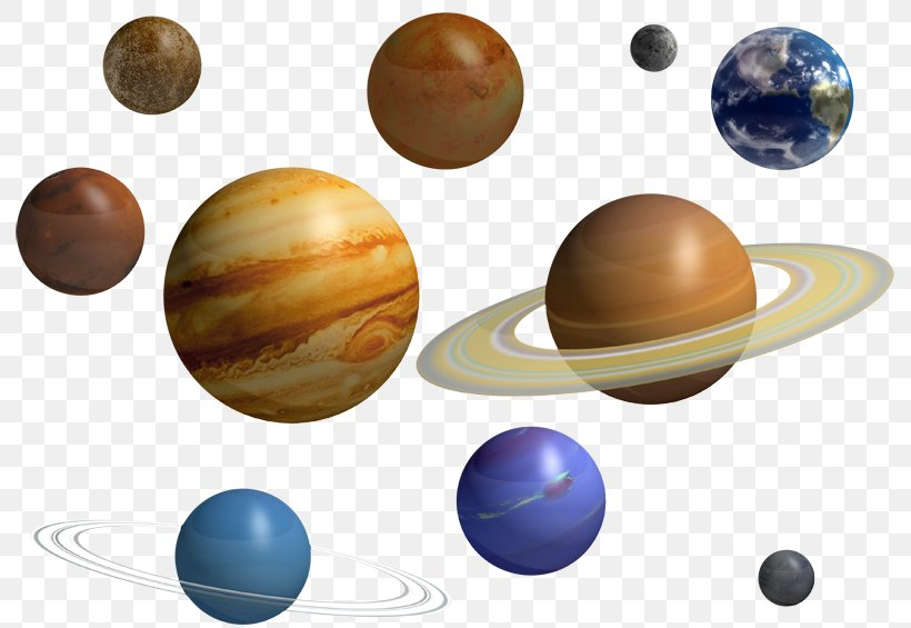 The Nine Planets Solar System Saturn Clip Art, PNG.