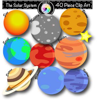 Planets Solar System Clip Art.