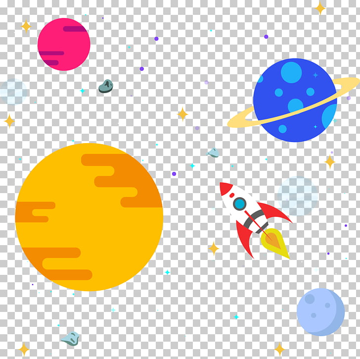 Outer space Solar System , Space star rocket, planets PNG.